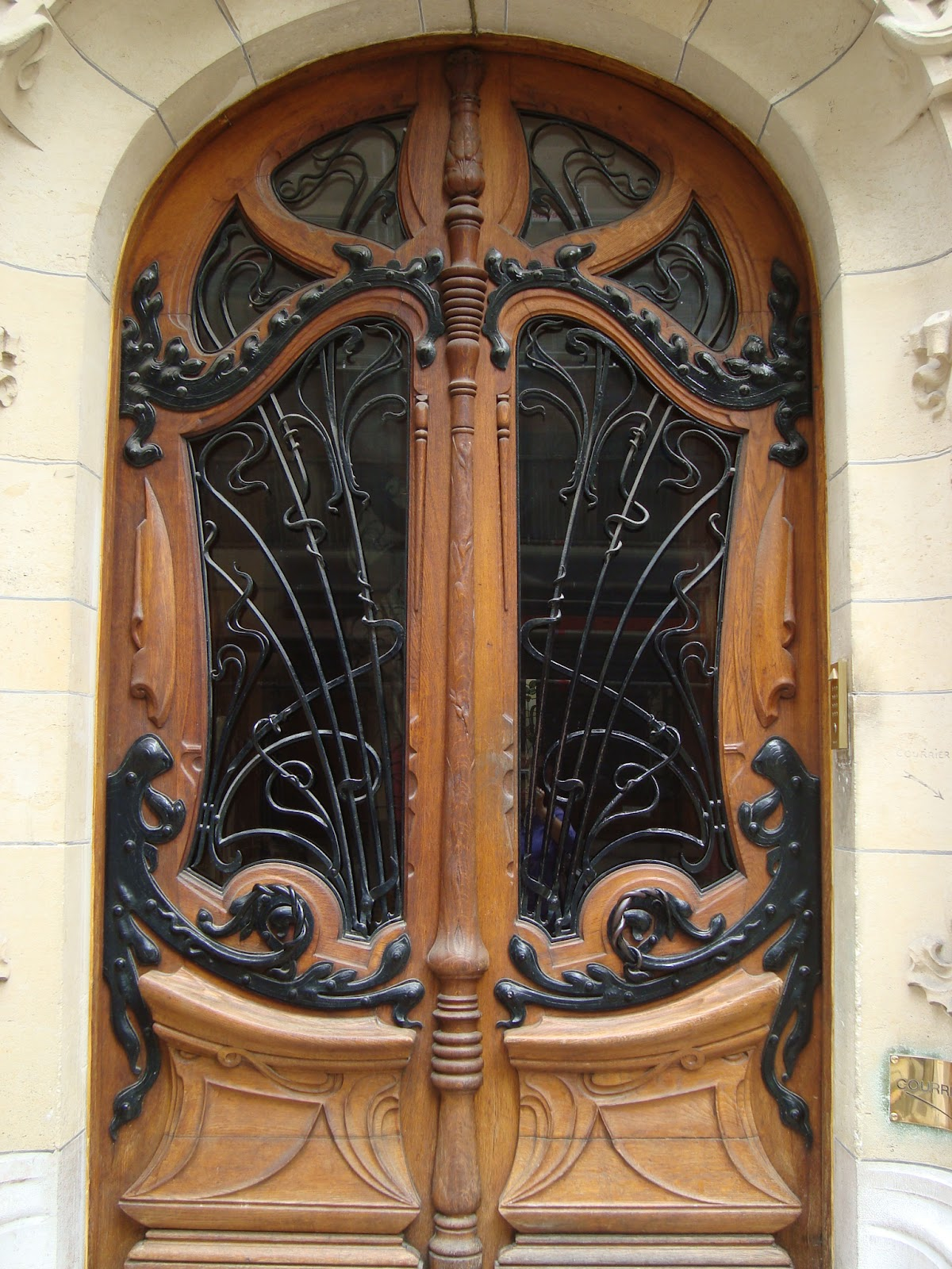 Paseos art nouveau 3 square rapp paris vii jules - Porte bois et fer forge ...
