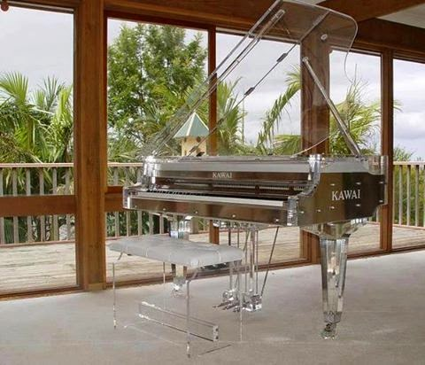 Transparent stylishly piano antique