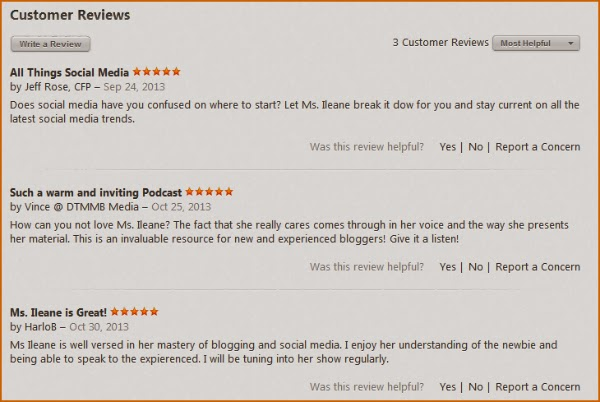 iTunes reviews for Ms. Ileane Speaks from @ileane