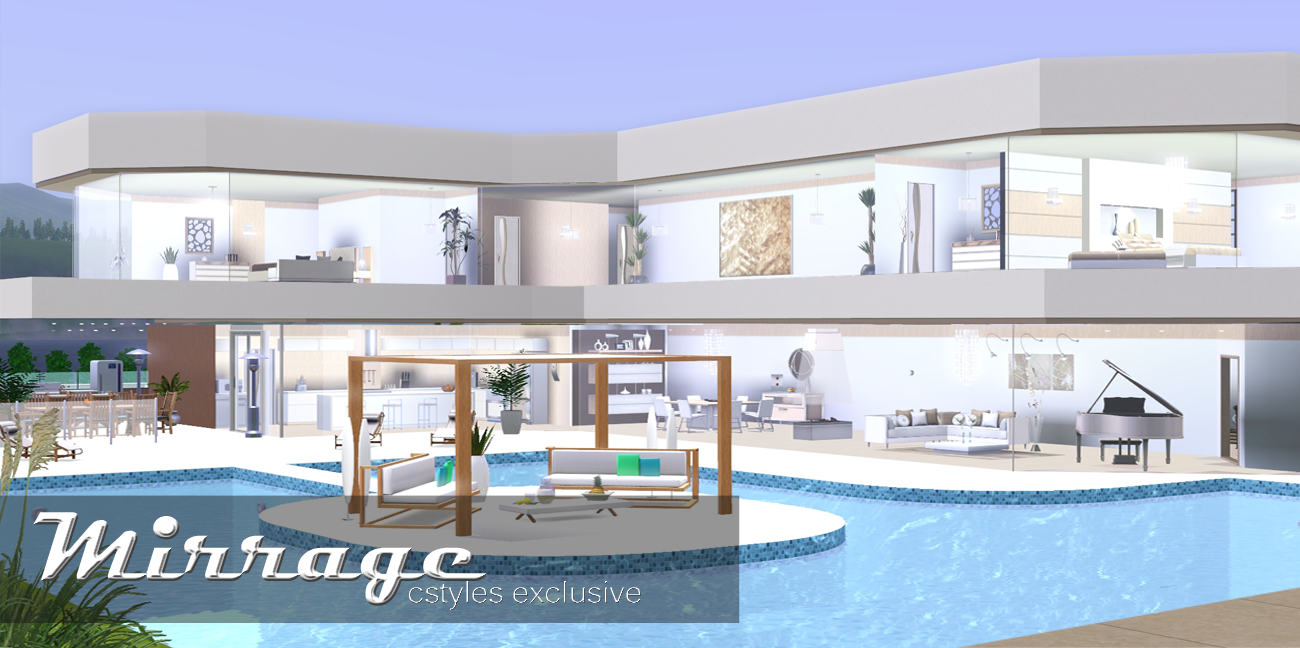Ice1 sims3 creations mirrage 3 bedroom modern house for Modern 3 bedroom house