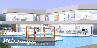 Ice1 sims3 creations mirrage 3 bedroom modern house for Big 3 bedroom house