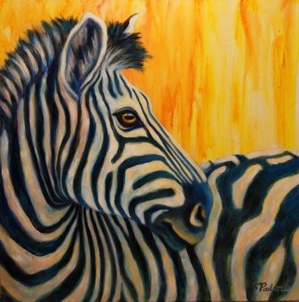 Daily painters abstract gallery contemporary zebra - Cuadros de cebras ...