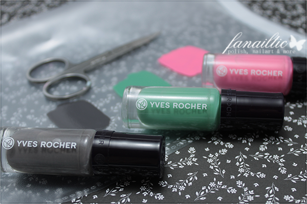 "Yves Rocher speaking colors ""menthe"", ""gris armoise"", ""rose camelia"""