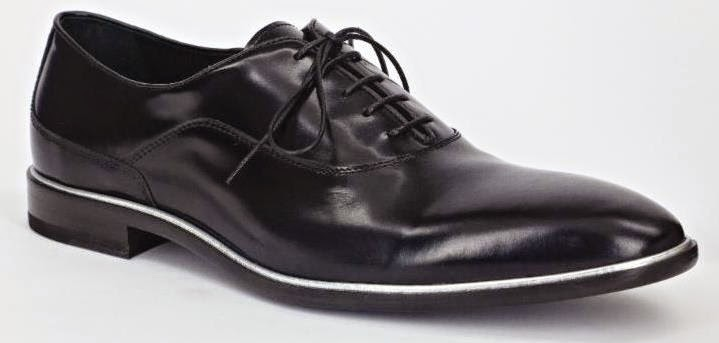 Carlo Pazolini Leather Lace-Up Shoes with Silver Piping