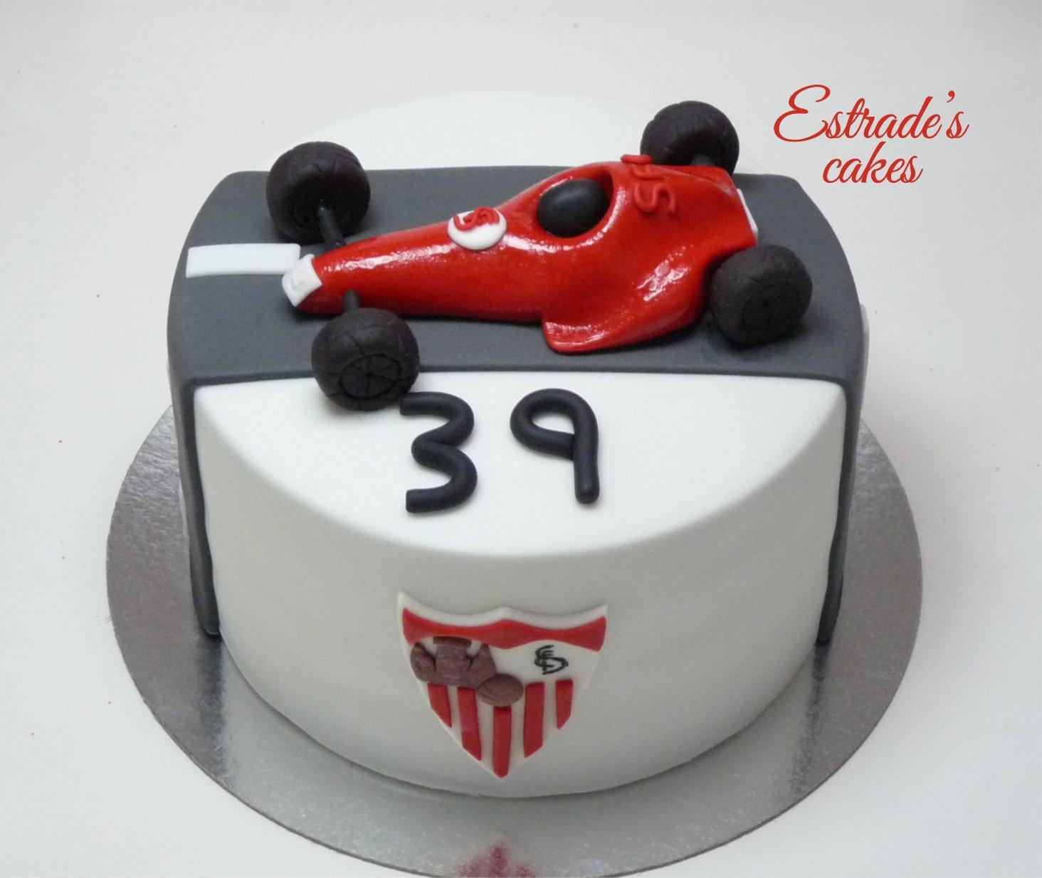 tarta del Sevilla FC y Formula 1 - 2