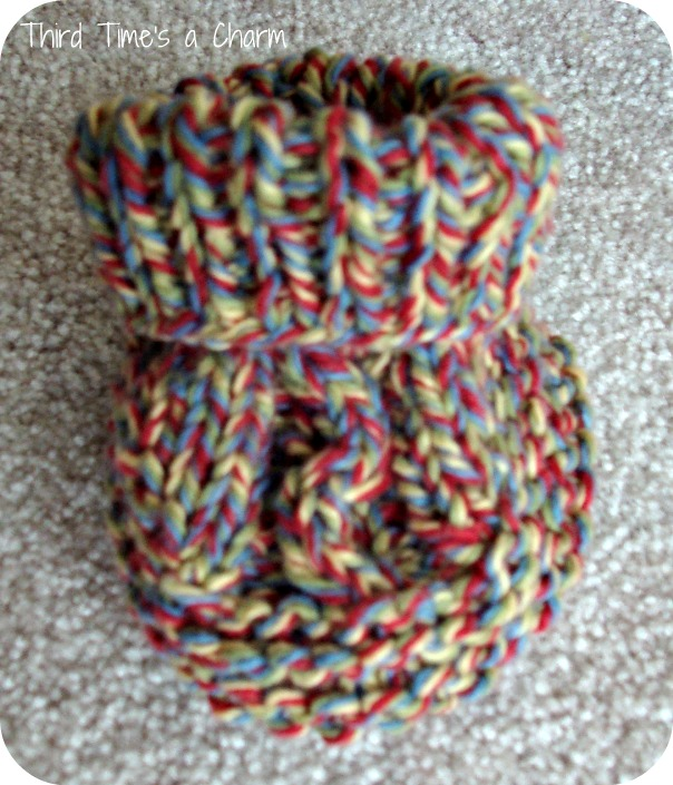 Knitting Patterns For Dummies : How to knit baby booties for dummies