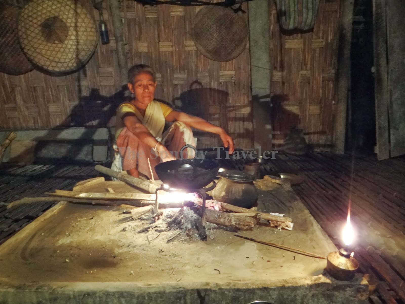 Majuli Island women cooking fish and rice