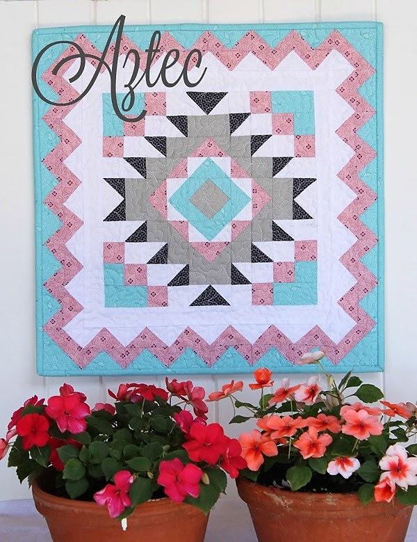 Monthly Calendar Quilt Patterns : Aztec mini your free february calendar threadbare