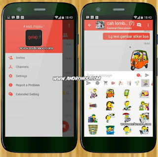 BBM Mod Red Grey Simple v2.9.0.45