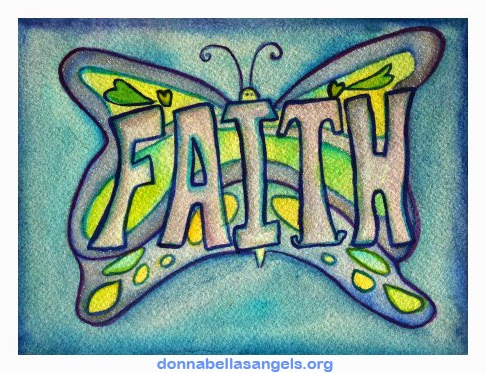 Faith Word Butterfly Art Painting