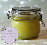 diy natural lemon sugar hand scrub