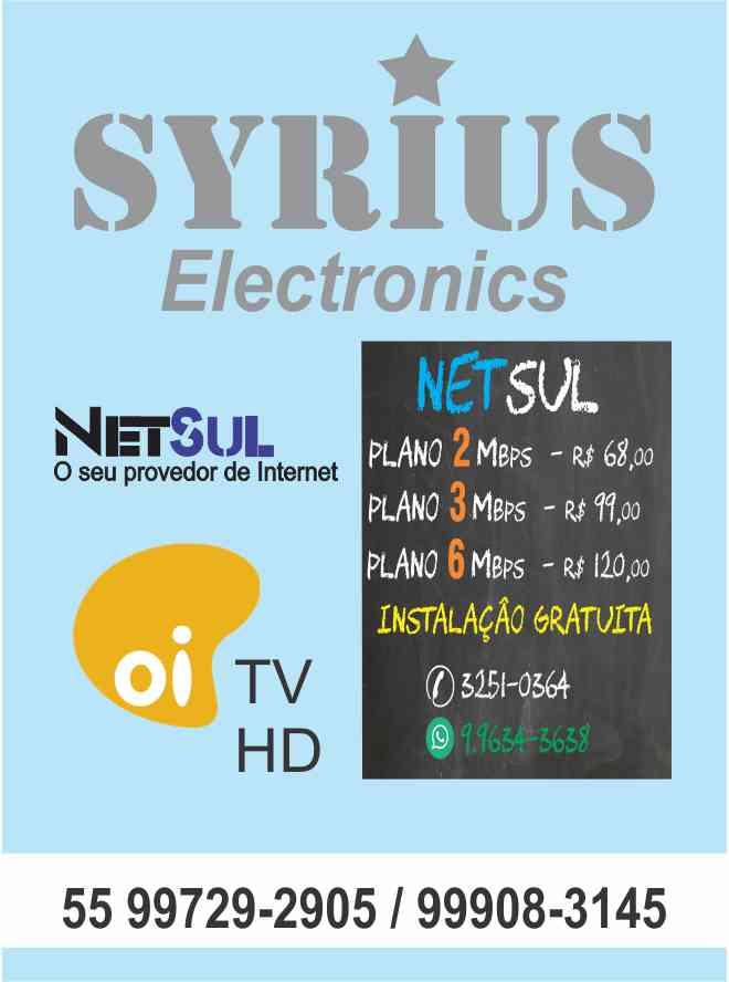 Internet, TV a cabo, eletrônicos!