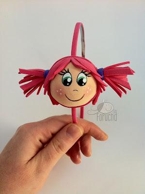 Diadema niña rosa fofucha