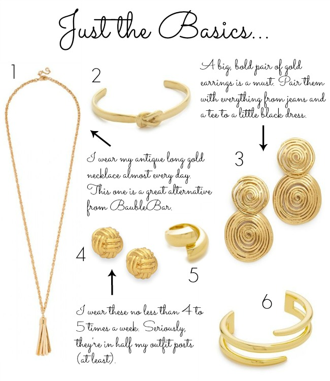 gold jewelry - gold jewelry basics - gold bracelets - gold necklace - gold ring - gold jewelry collection - capsule jewelry collection