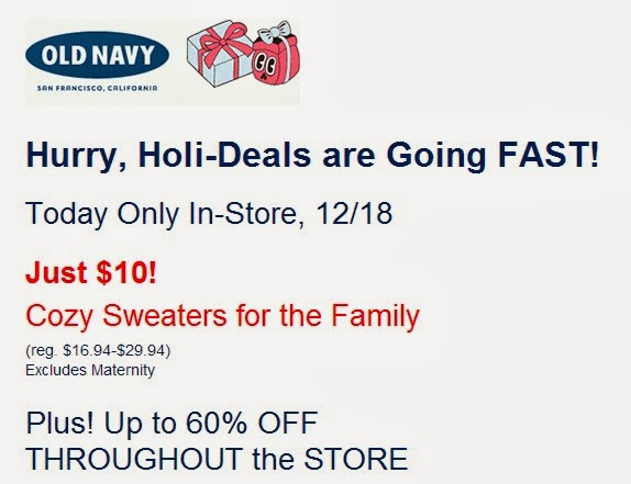 Old Navy Coupons & Promo Codes | December Old Navy coupon codes and sales, just follow this link to the website to browse their current offerings. And while you're there, sign up for emails to get alerts about discounts and more, right in your inbox. All Old Navy jeans are on sale! Online and in-store prices and exclusions may vary/5(13).