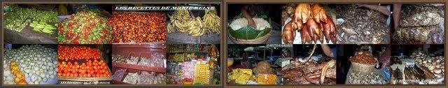 Quelques ingrédients de la cuisine ivoirienne.