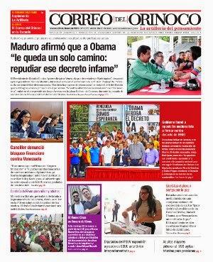 CORREO DEL ORINOCO MARTES 05/03/2015