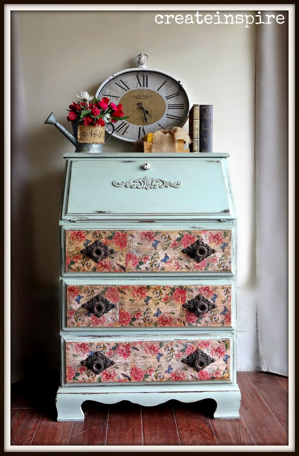 CreateInspire antique secretary desk