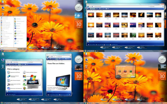 download tema windows xp 7 clearglass