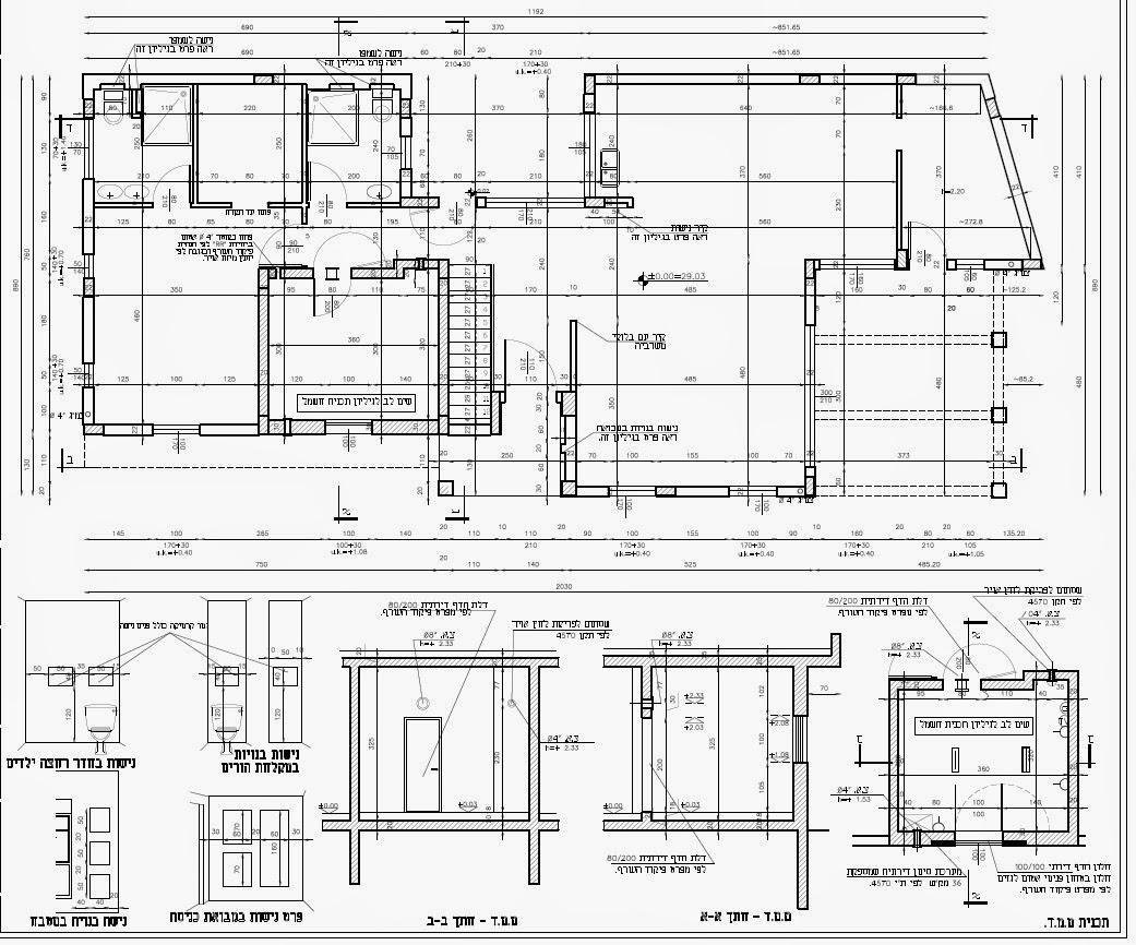 תוכנית אדריכלית - בניית בית פרטי