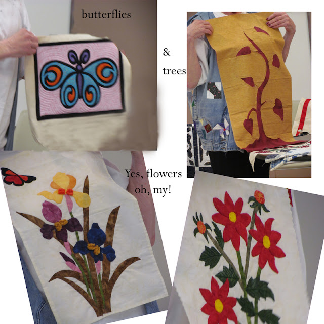 applique butterflies, flowers and trees