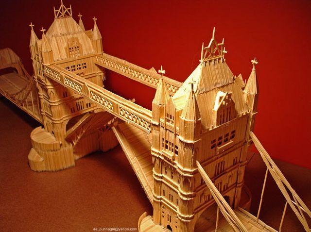 أعمال فنية مدهشة بأعواد السواك  ToothPick-City