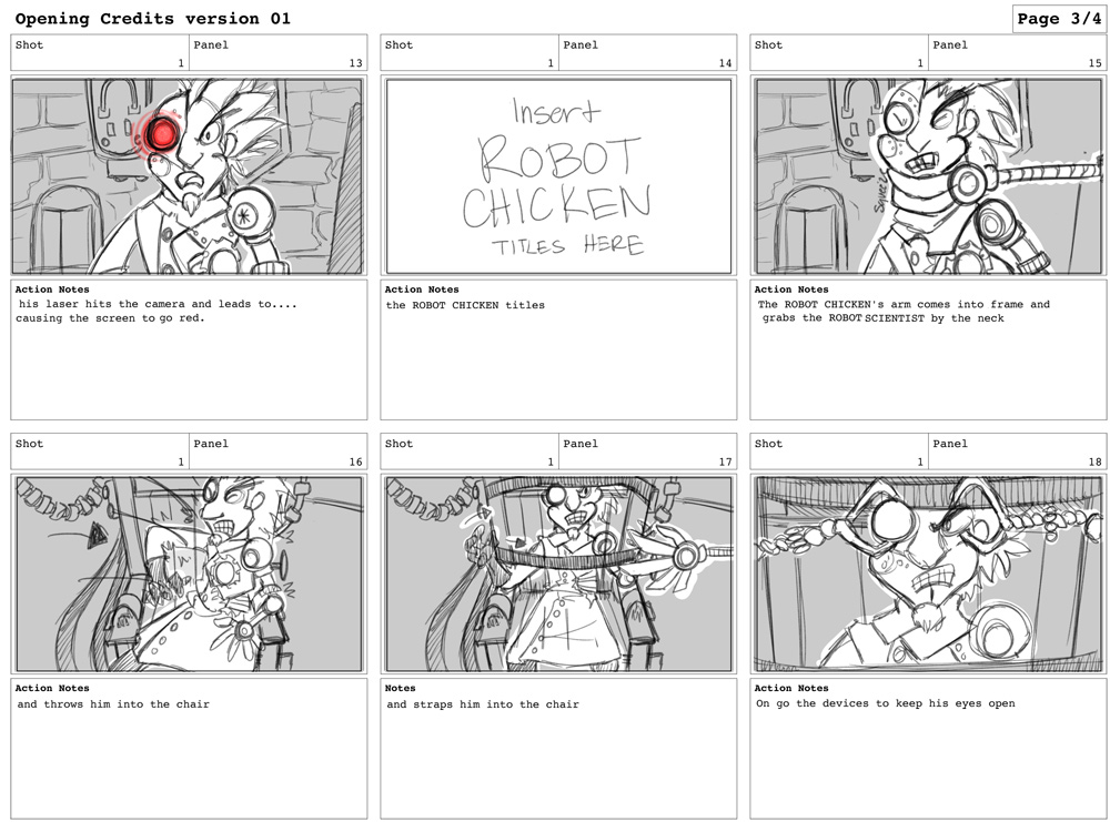 the wonderful world of kimberly u0026 39 s storyboards  robot