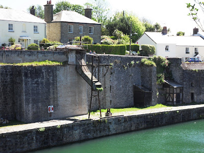China Clay chute Charlestown Cornwall