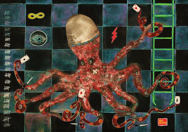 Octopus II      21x30 cm
