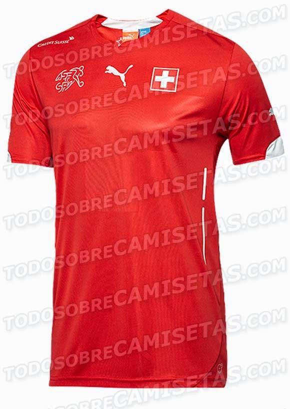Kostum Timnas Swiss Piala Dunia 2014