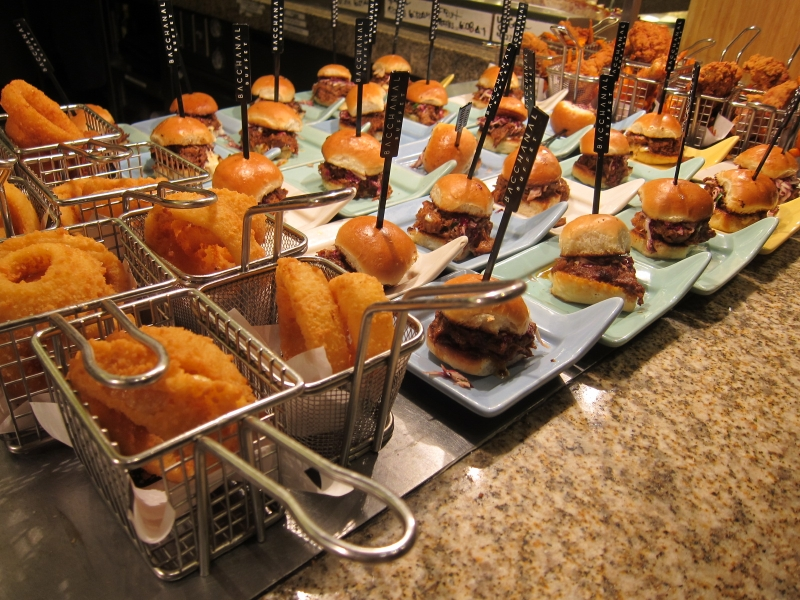 """Bacchanal Buffet at Caesars Palace has taken an innovative and extraordinary spin on classic brunch buffet. Thrillist declared it """"the standard against which all Las Vegas buffets are judged."""" Save some money today with our Bacchanal Buffet Coupon!"""