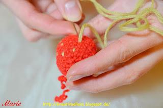 Erdbeeren Häkelanleitung