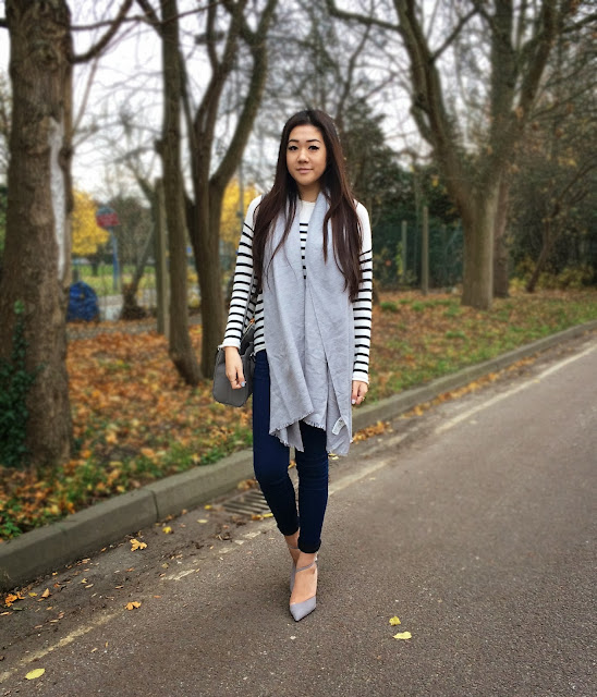 Liverpool style blog, Liverpool fashion blog, breton top ootd, Zara grey heels, Zara mini office city bag