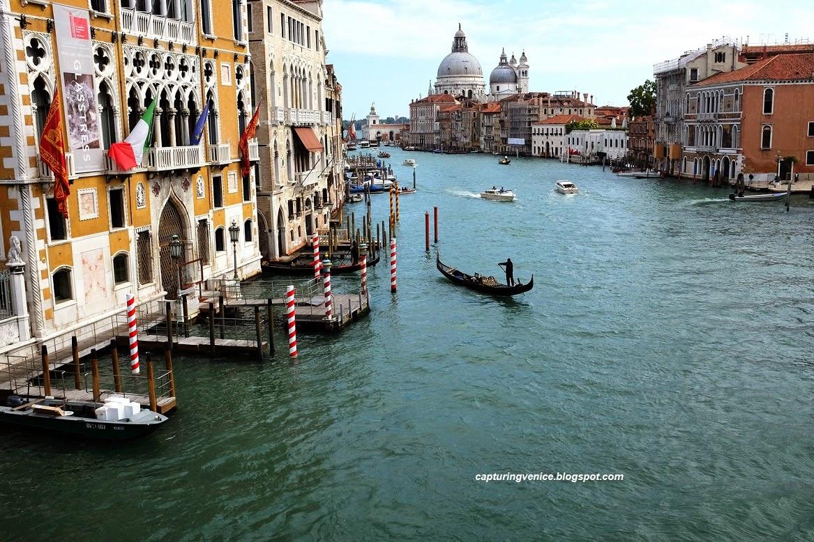 View from the Accademia bridge Venice capturingvenice.blogspot.com
