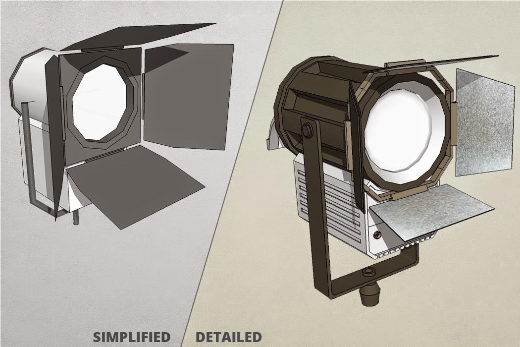 Simplified vs Detailed Film Light