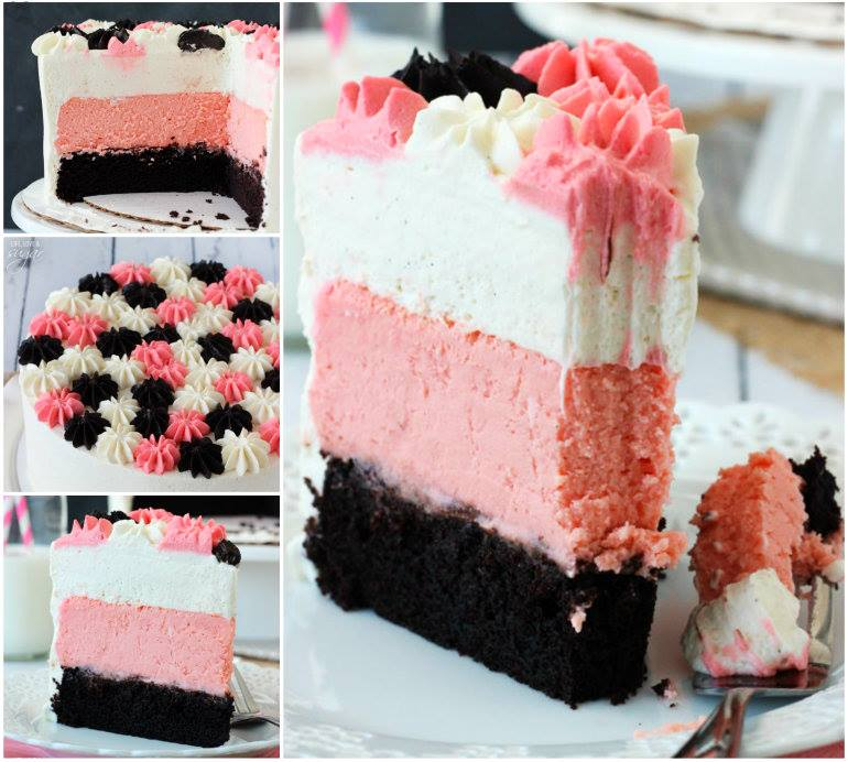 ice neapolitan ice cream cake homemade neapolitan ice cream neapolitan ...