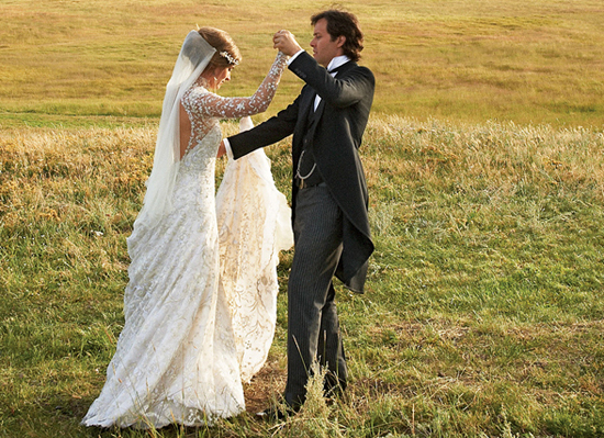 Lauren Bush and David Lauren Wedding via Vogue