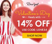 Saint Valentin sur Rosegal