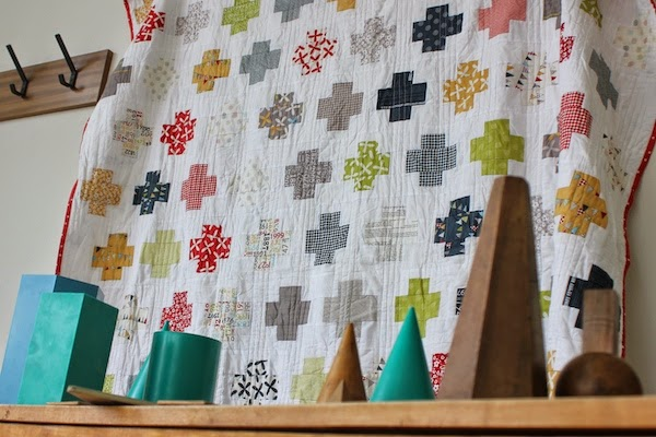 A quilt in a classroom