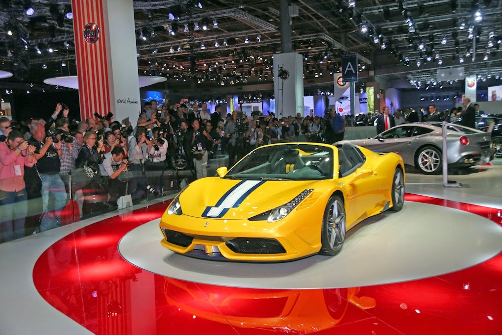 The Ferrari 458 Speciale A Made Its World Debut At The 2014 Paris Motor  Show. A Limited Edition Special Series Of Just 499 Cars, The 458 Speciale A  Enhances ...