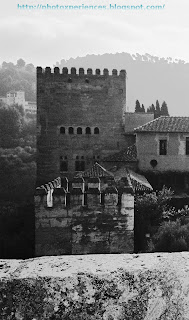 Torre de Comares desde la Alcazaba. Tower of Comares from the Alcazaba (citadel). Alhambra. Granada. Spain.