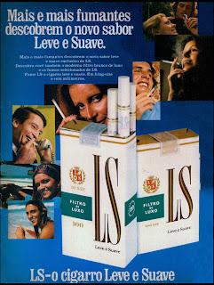 propaganda cigarros LS - 1974