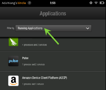 Stop Running App On Kindle Fire