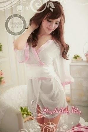 baju tidur kimono putih
