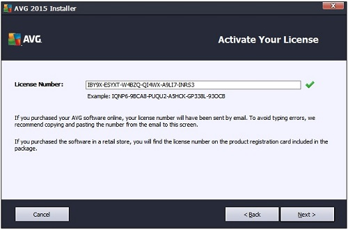 new avg internet security key