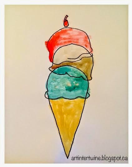 Wayne Thiebaud Ice Cream Cone Art Activity For Kids