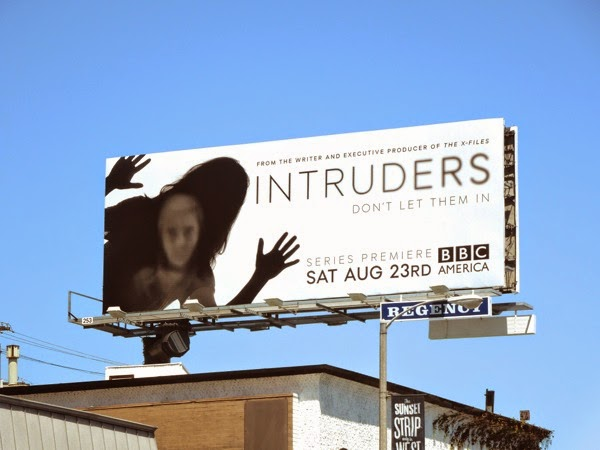 Intruders series premiere BBC billboard