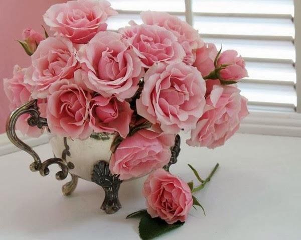 Lettre d'amour avec des fleurs 2
