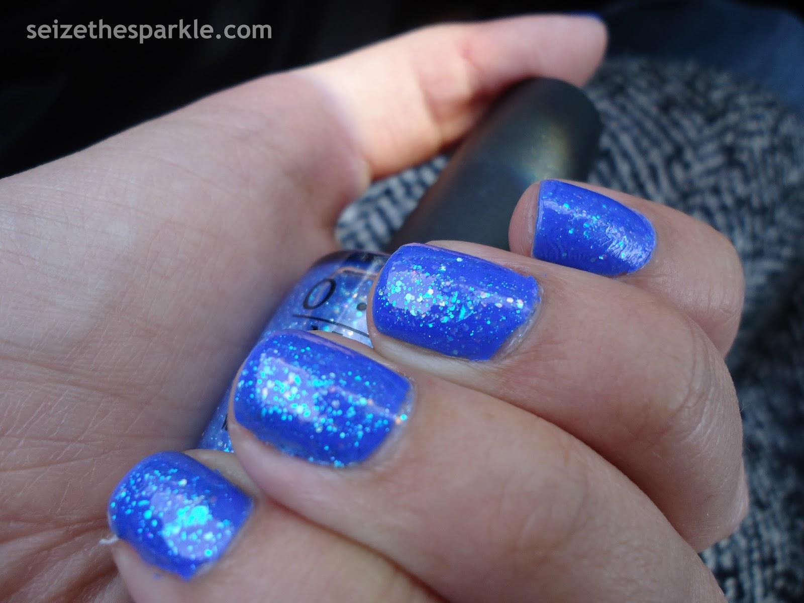 Blue Jelly Glitter Sandwich