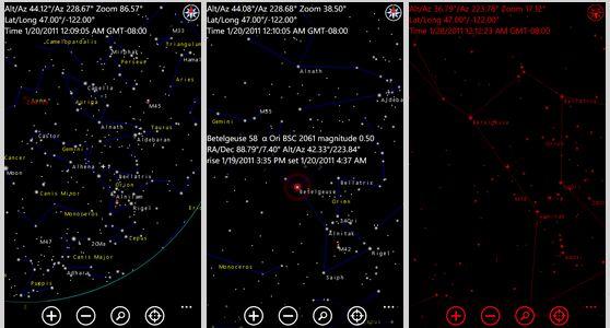 Skymap app for WP7
